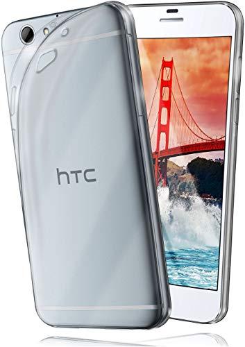 moex AERO Hülle Transparente Handyhülle kompatibel mit HTC One A9s   Hülle Silikon Dünn - Handy Schutzhülle, Durchsichtig Klar