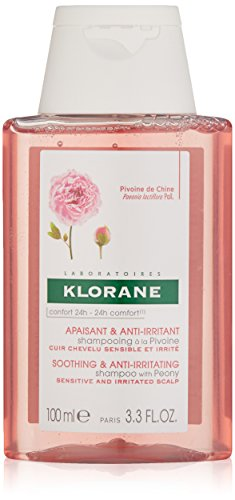Klorane Shampoo with Peony, Soothing Relief for Dry Itchy Flaky Sensitive Scalp, pH Balanced, Provides Scalp Comfort, 6.7 Fl Oz