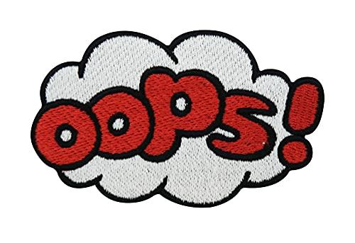 Finally Home Oops Comic Design Wolke Bügelbild Patch zum Aufbügeln | Patches, Aufbügelmotive