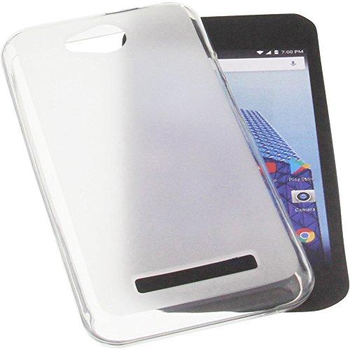 foto-kontor Tasche für Archos Access 45 4G Gummi TPU Schutz Handytasche transparent weiß