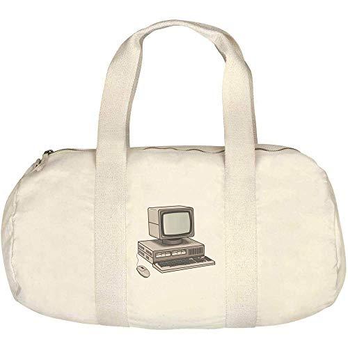 Azeeda 'Retro Computer' Canvas Duffle / Gym Bag (DF00014923)