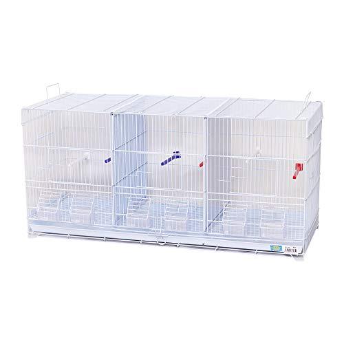 DZL® Jaula metálica de criar para pájaros (90 * 35 * 44cm L)