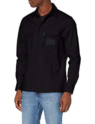 Calvin Klein Jeans Herren Minimal Utility Reg Shirt Hemd, Ck Black, M
