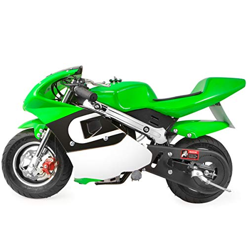 XtremepowerUS Mini Gas Pocket Motorcycle Bike 4-Stroke EPA Engine Motor Pocket Padded Seat 40cc Engine (Green)