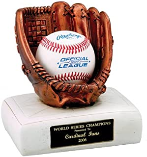 Customizable Baseball Glove and Base Trophy,Includes Personalization