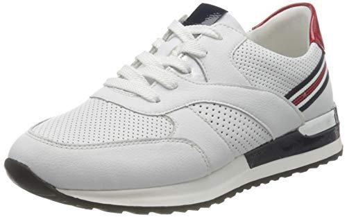 Remonte Damen R2525 Sneaker, Weiss/Silver/Flamme/Weiss/Marine / 80,37 EU