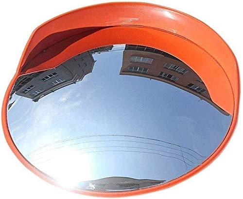 HQY groothoeklens voor buiten, verkeersspiegel, groothoek, voor garage, supermarkt, convexe spiegel voor buiten, dode hoek, panoramaspiegel 80cm