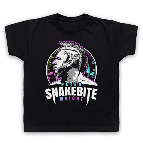 My Icon Art & Clothing Peter Wright Snakebite Darts Tribute Scottish Champion Player Kinder T-Shirt, Schwarz, 7-8 Jahren