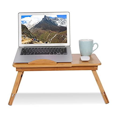 Escritorio de Cama Portátil Ajustable 30 x 50 x 20cm Multifunción Mesa de Bambú de Cama para...