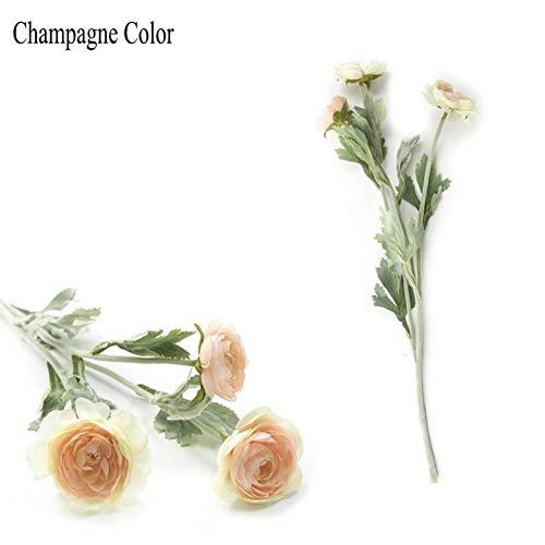 HYLZW Künstliche Blume Topfpflanze Schöne Künstliche England-Ranunkel-Rosen-Blumen-SeideFür Haupttabellendekoration 3 Geht Gefälschte Blume Voran