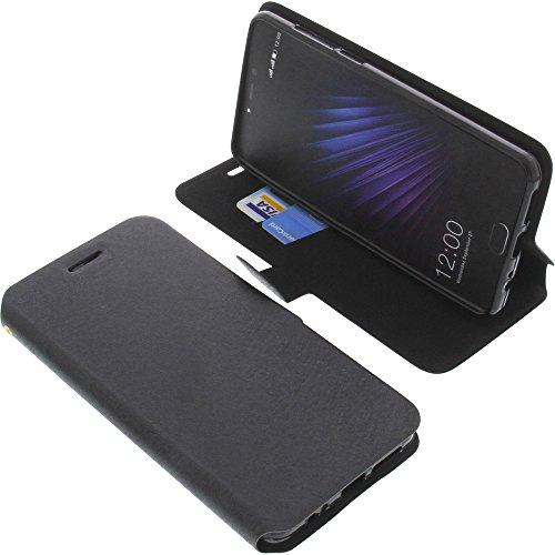 foto-kontor Tasche für Leagoo T5 Book Style schwarz Schutz Hülle Buch