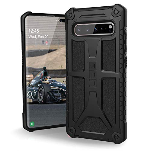 Urban Armor Gear Monarch für Samsung Galaxy S105G Hülle nach US-Militärstandard (Qi kompatibel, Sturzfest, Verstärkte Ecken, Leder) - schwarz