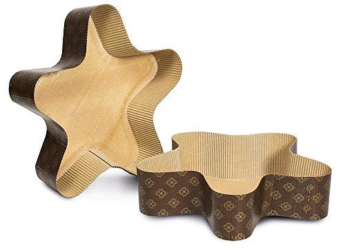 Guardini Monouso, 3 Stampi Stella 25x21cm - quantità max impasto 500gr., carta da forno, Colore beige
