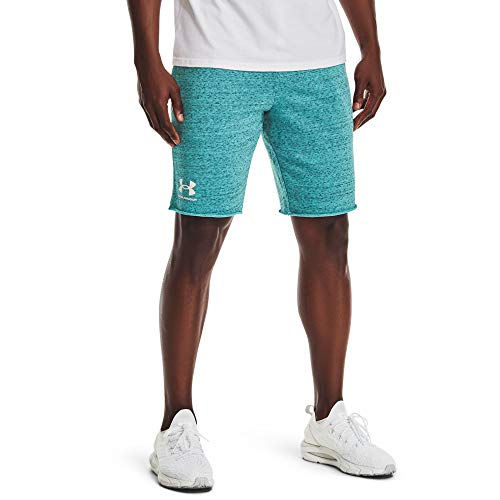 Under Armour Men's Rival Terry Shorts , Cosmos Full Heather (476)/Onyx White , Small