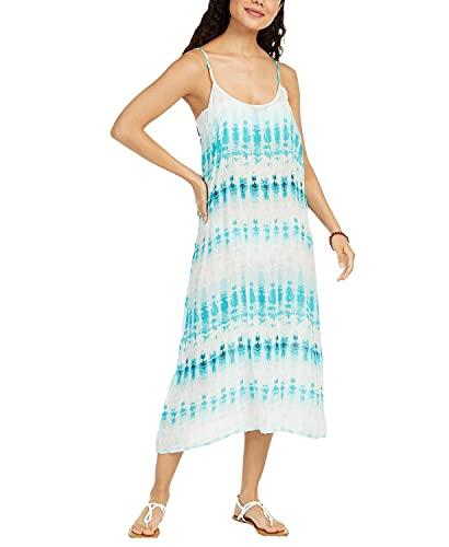 J. VALDI Tie-Dyed Printed Swim Cover-up Dress Women's Swimsuit Turquoise Multi Medium