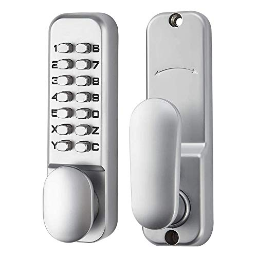 SPOTACT Mechanical Keyless Door Lock 6 Code Entry Lock,Latch Lock 2-3/8'' and 2-3/4'',Suitable for Home/Hotel/Office/Studio/Warehouse/File Archives