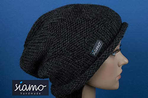 Winter-Beanie CHOSICA Baby-Alpaka anthrazit Unisex Winter-Mütze von siamo-handmade