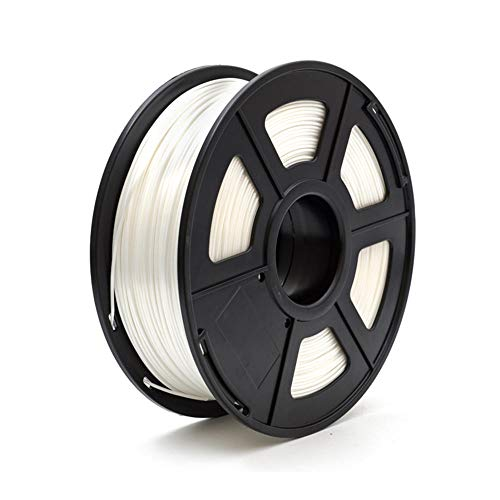 Seiden-PLA-Filament 1,75 mm, 3D-Druckfilament 1 kg, Seidenimitat-Textur-Weiß