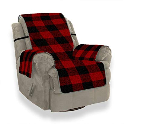 JOCHUAN Lumberjack Plaid Seamless Pattern Your Design Seconal Sofa Cover Fitted Chair Slipcover Fitted Chair Slipcover Furniture Protector for Pets, Kids, Cats, Sofa