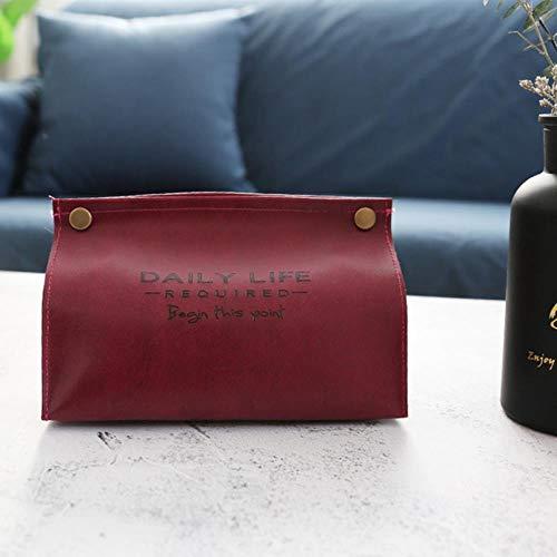 NOON Tissue Box Home Living thé de Style Produits ménagers Tissu Chambre Pompage,Rouge