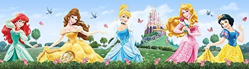 1art1 Principesse Disney - Merida, Belle, Cinderella, Aurora, Snow-White Fotomurale Bordo Auto-Adesivo (500 x 14cm)