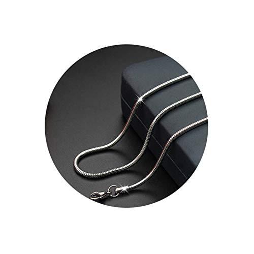 Bishilin Edelstahl Kette Herren ohne Anhänger Schlangenkette 1.5 MM Halskette Vintage Punk Silber Männer 45 cm