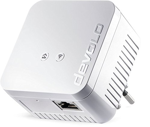 devolo dLAN 550 WiFi Powerline (500 Mbit/s internet via het stopcontact, 300 Mbit/s over WLAN, 1x LAN-poort, 1x Powerlan adapter, PLC netwerkadapter, WiFi Booster, WiFi Move) wit - Zwitserse stekker
