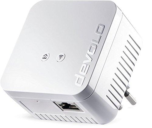 devolo dLAN 550 WiFi Powerline (500 Mbit/s internet via het stopcontact, 300 Mbit/s over WLAN, 1x LAN-poort, 1x Powerlan adapter, PLC netwerkadapter, WiFi Booster, WiFi Move) wit - Zwitserse stekker