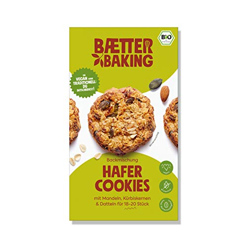 Baetter Baking Backmischung Hafer Cookies, 300g, glutenfrei, vegan, bio