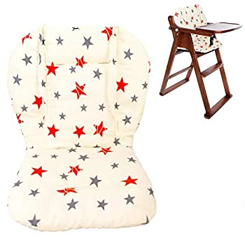Twoworld Baby High Chair Seat Cushion Liner Mat Pad Cover Breathable(Star)
