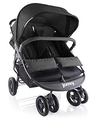 Joovy Scooter X2 Double Stroller, Side by Side Stroller, Stroller for Twins, Large Storage Basket, Black by JOOD9