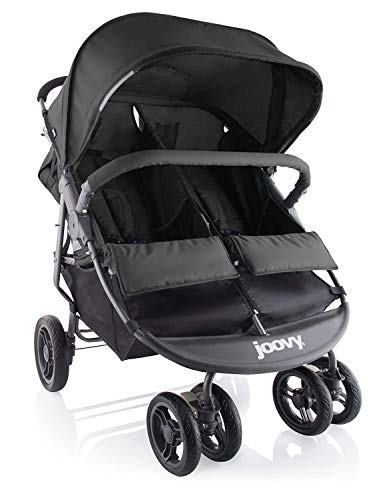 Joovy Scooter X2 Double Stroller, Side by Side Stroller, Stroller for Twins, Large Storage Basket, Black