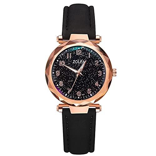 RTUQ Reloj de pulsera para mujer, analógico, de cuarzo, con cinturón magnético, correa de acero inoxidable, regalo para mujeres, a,