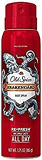 Old Spice Body Spray Wild Collection Krakengard 3.75 Oz (Pack of 2)
