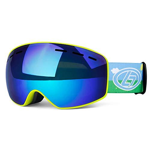AUEDC Skibrille für Kinder, Ski Snowboard Goggles Winter-Schneesport Snowboardbrillen UV-Schutz Anti-Fog Snow Goggles für Kinder,Vlt18.4%~b