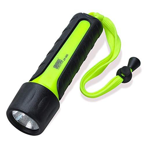 Lychee Linterna LED de Mano Resistente al Agua,Linterna submarina, Ciclismo,Camping, Montañismo,Senderismo,Pesca Nocturna, Mantenimiento Nocturno (300 LM)