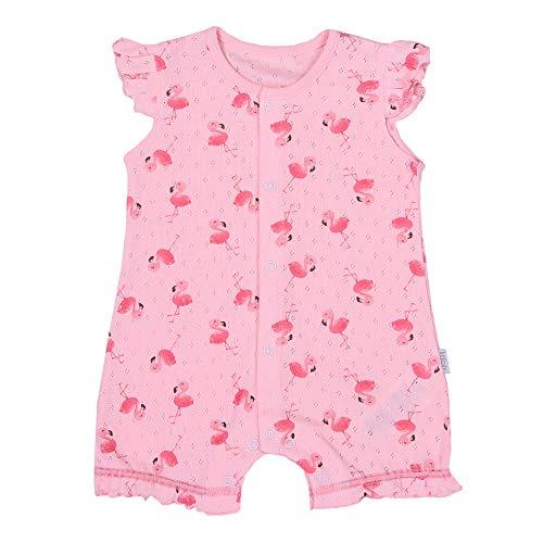 Sevira Kids - Combishort bébé fille en coton bio, Flamants roses