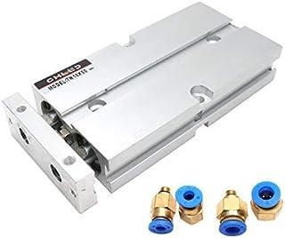 DealMux 25mm Bore 75mm Stroke Aluminum Alloy Pneumatic Air Cylinder MAL25x75