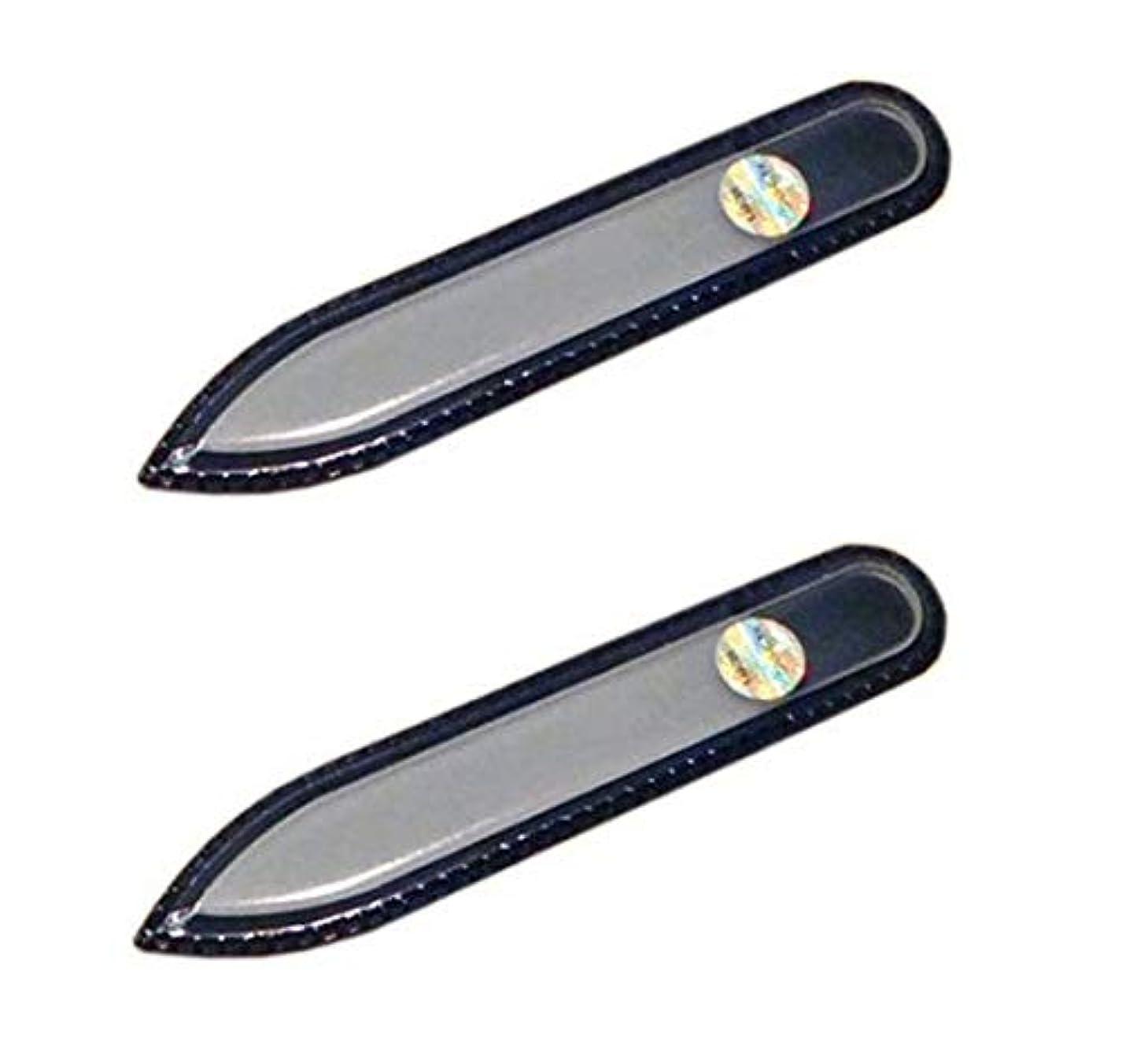 略す未亡人行商ブラジェク ガラス爪やすり 90mm 両面タイプ (ブラジェク ガラス爪やすり 90mm 両面タイプ 2個セット)