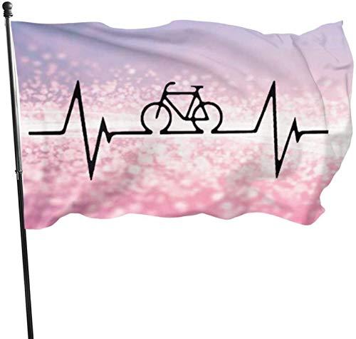 YJWLO - Bandera de jardín para bicicleta de montaña, resistente de temporada al aire libre, banderas de jardín de 3 x 5 pies, poliéster, negro, tamaño único