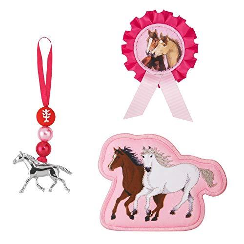 """Step by Step Magic Mags Spiegelburg """"Pferdefreunde, Wild & Free"""", 3-teilig, 2 Magnet-Applikationen und 1 Anhänger, als Ergänzung für den Schulranzen oder Vorschulrucksack, für Mädchen"""