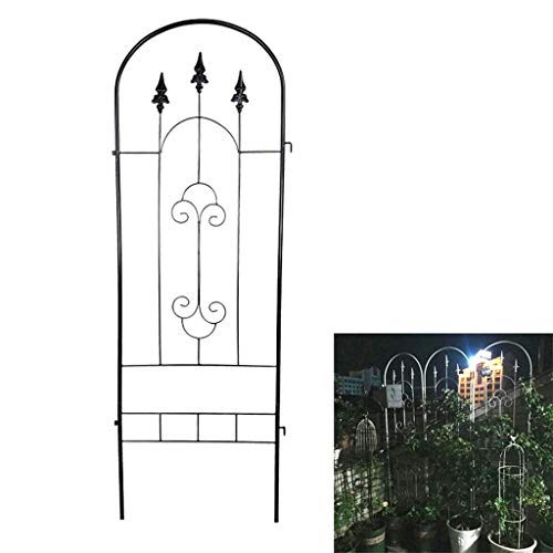 LUNAH Garden Trellis for Climbing Plants, Sturdy Black Iron Trellis Garden, for Plants Support Fence Panel, for Rose Vegetables