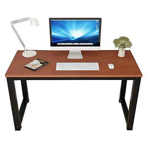 YO-TOKU Computer Desk Steel Wood Bureau Huishoudelijke Desktop Modern Minimalistisch Bureau Laptop Bureau Eettafel Ruime Beenruimte (Kleur: Teak kleur, Grootte: 120x60x75cm) Vouwtafels