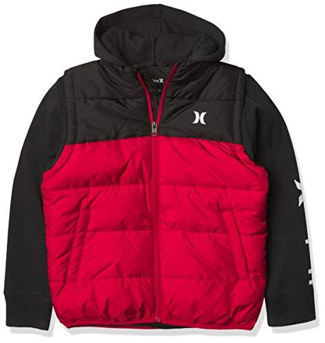 Hurley 2fer Puffer Jacket Parca, Gym Rojo, S para Niños