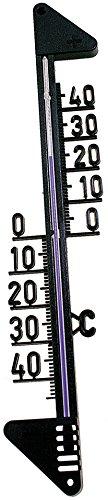 Fackelmann TECNO, TECNO, thermometer voor binnen en buiten, analoge temperatuurweergave (kleur: zwart), hoeveelheid: 1 stuks