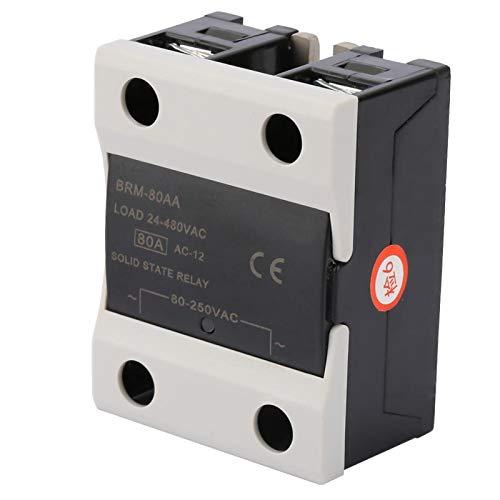 Relé de estado sólido, relé de estado sólido de 60 A, semáforos sin chispa para fotocopiadoras Luces de señal de computadora(BRM-80AA)