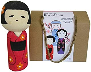 Paint Your Own Kokeshi Kit - Craft Kit for Kids