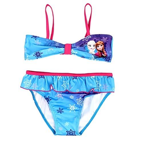 Frozen Bikini Die Eiskönigin Anna und ELSA Tankini (Bikini Pink-Blau, 104)