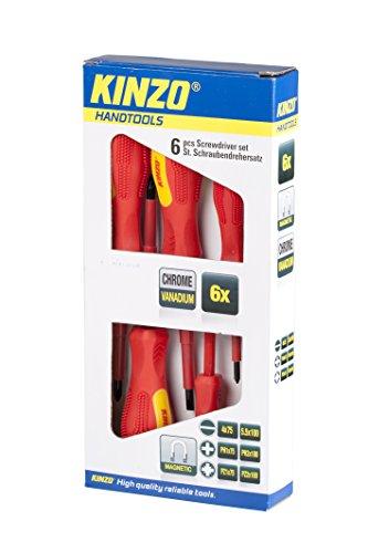 Kinzo 72027 Vanadium GS Schraubendreher-Set, Chrom