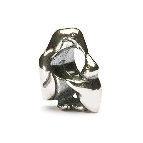 Trollbeads Silber Bead Pinguin mit Baby